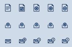 15 Document Icons Vector