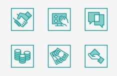 24 Square Designer Icons