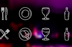 10 Restaurant Icons Vector