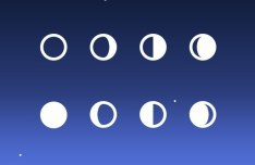 8 Moon Phase Icons PSD