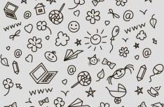 Hand Drawn Background Pattern PSD