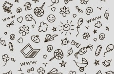 Hand Drawn Background Pattern PSD