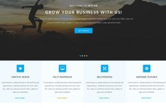myLab Responsive Business Website Template PSD