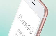 iPhone 6S Rose Gold Side View Mockup