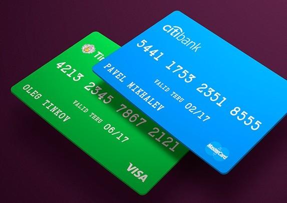 Debit  Credit Card Template PSD