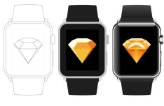 3 Apple Watch Sketch Templates