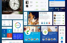 Shopping & Social UI Kit PSD