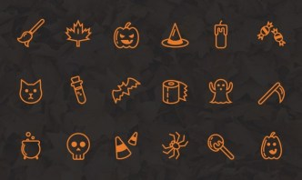 18 Lovely Halloween Icons Vector