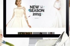 Fashion Wedding Dresses Website Template PSD