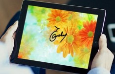 iPad In Hands Template PSD