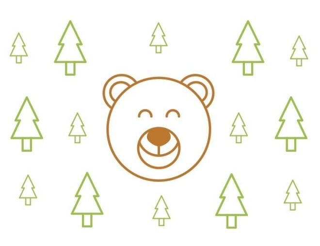 Happy & Sad Bear Vector