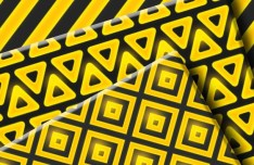 Seamless Golden Geometric Photoshop Patterns