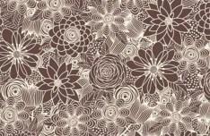 Brown Vintage Floral Background Vector