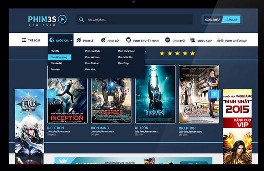 Free movie website template.