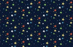 Seamless Colorful Stars Vector Pattern