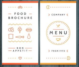 Creative Food Brochure Template Vector