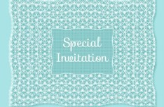 Blue Special Invitation Background Vector