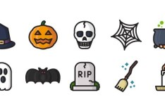 10 Simple Halloween Icons SVG