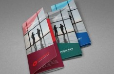 Corporate Tri-fold Brochure Templates PSD (3 Colors)