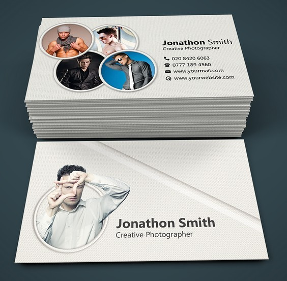 Free Modern Photography Business Card Templates PSD TitanUI - Photography business cards templates for photoshop