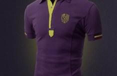 Realistic Violet T-shirt Mockup PSD