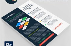 Creative Agency Flyer Mockup PSD