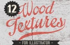 12 Wood Textures Vector