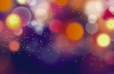 Colorful Lights Bokeh Background Vector