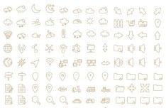 450+ Outline Icons Pack Vector