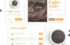 Simple Coffee UI Kit PSD