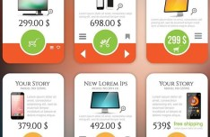 Clean Pricing Table Set Vector