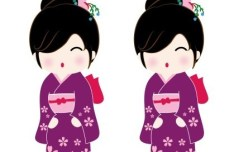 Japanese Cartoon Doll Vector