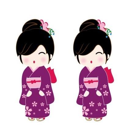 Japanese Cartoon Doll Vector