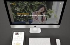 TheMax One Page Portfolio Template PSD