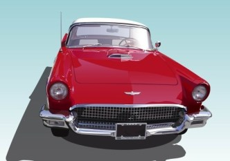 Red Classic Car Vector