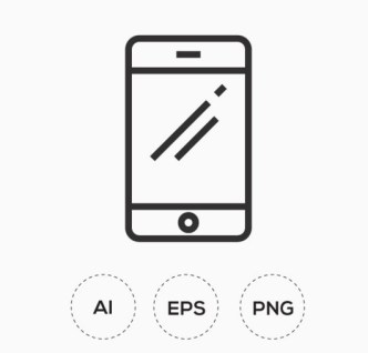 Customizable Communication line Icons Vector