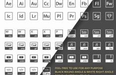 50+ Clean Square File Type Icons Vector