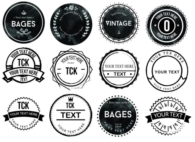 20 Vector Badge Logo Icons
