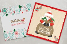 20 Beautiful Christmas Greeting Card Templates Vector