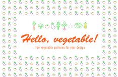 Clean Vegetable Patterns Vector