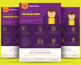 Colorful Corporate Flyer Template Vector