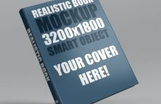 Realistic Book Mockup PSD