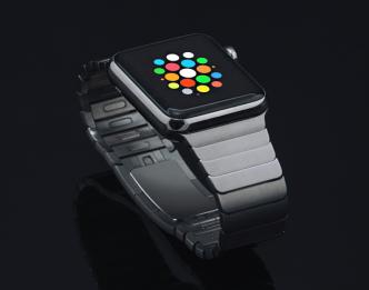 Space Grey Apple Watch Sport Mockup PSD
