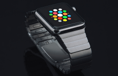 Space Grey Apple Watch Sport Mockup PSD