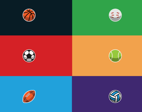 9 Minimal Sports Icons Vector