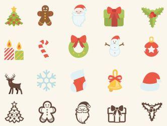 15 Christmas Vector Icons (AI, SVG, CSH)