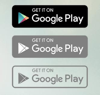 Google Play Badge Set Vector
