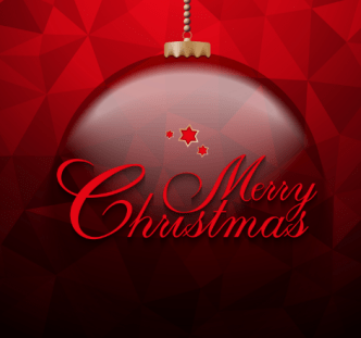 Red Christmas Ball Background Vector 02