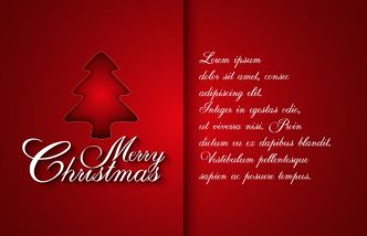 Red Christmas Card Cover Template Vector