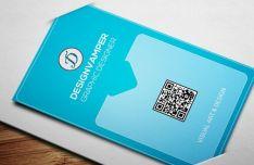 Super Clean Blue Business Card Template PSD